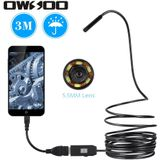 OWSOO 5.5mm 6 LEDs USB Endoscoop 3 m Kabel Android Mini Riool Camera Borescope voor OTG USB Wire Slang tube Camera Auto Inspectie