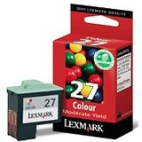 Lexmark No. 27 Moderate Use Color Print Cartridge Original