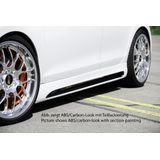 Rieger side skirt | VW Golf 6 VI incl. GTI / GTD 2008-2012 | ABS | met schacht en uitsnede | Links | Carbon-look