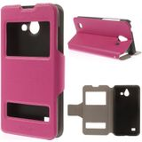Huawei Ascend Y550 view cover hoesje hot pink