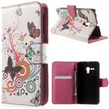 Alcatel One Touch POP D5 vlinders kleuren agenda wallet hoesje