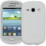 Luxe back silicone gel hoesje Wit Galaxy Samsung Fame S6810