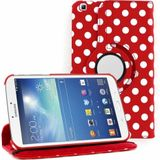 Polka rood wit stippen Samsung Galaxy tab 3 8.0 360 graden hoes map