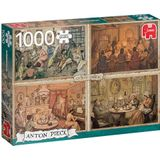 Jumbo legpuzzel Anton Pieck: Living Room Entertainment 1000 stukjes