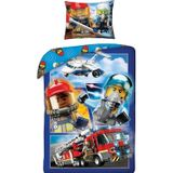 Lego City Dekbedovertrek 140 x 200 cm + 1 kussensloop 70 x 90 cm - Katoen