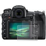 2x Displaybeschermglas Nikon D750 D800e D810 D850 D5100 D5200 D7100 / P510 P530 Fuji FinePix S2950 S4000 (Transparant, 9H, 0,33mm, Full Glue) Temper