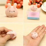 Roze Bunny Ball Squishy Squeeze Leuk Healing Toy Kawaii Collection Stress Reliever Cadeau Decor