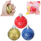PU Cartoon kerstballen Squishy Toys 9.5cm Slow Rising With Packaging Collection Soft Toy