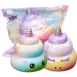 Kiibru Squishy 12CM Unicorn Poo Toys Slow Rising Squeeze Grappig Colorful Speelgoed