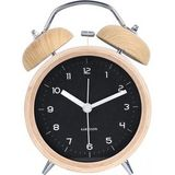 Wekker Karlsson Classic Bell Wood With Black Dial 14 cm