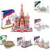 3D-puzzels Modellen Taj Mahal Colosseum Architectuur Model Kits Educatief speelgoed voor volwassenen Volwassen kinderen Gift