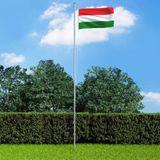 Vlag Hongarije 90x150 cm