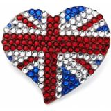 Intrigue Womens/Ladies Diamante Acrylic UK Flag Brooch (Red/White/Blue) One Size