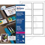 Avery zweckform C32026-10 visitekaarten zijdeglans mat wit 85 x 54 mm (100 stuks)