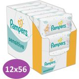 Pampers Sensitive Billendoekjes - 12x56