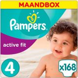 Pampers Active Fit Maat 4 - 168 luiers Maandbox