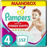 Pampers Premium Protection Active Fit Pants Maat 4 - 152 Luierbroekjes Maandbox