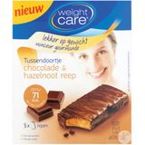 Weight Care Chocolade En Hazelnoot Reep 8 Stuk