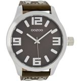 OOZOO Horloge Timepieces Collection 51 mm bruin C1014