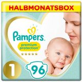 Pampers Premium Protection New Baby Gr.1 Newborn 2-5kg halve maandbox 96 stuks