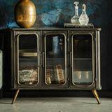 Vintage metalen dressoir - 100x37x80cm.