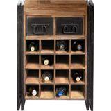 Industriele wijnkast met lades - 58x35x80cm.