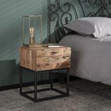 Massief houten nachtkastje acacia - 40x35x50cm.