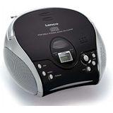 Lenco SCD24 Draagbare Radio CD-Speler Zwart/Zilver