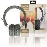 Sweex SWHPBT100G Hoofdtelefoon On-ear Bluetooth 1.00 M Grijs