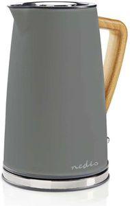 Nedis KAWK510EGY Waterkoker 1,7L 2200W Soft Touch Grijs