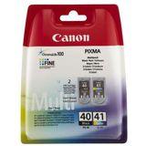 Originele inktcartridge (2 stuks) Canon PG-40/CL41 Tricolor Zwart