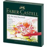 Faber Castell FC-167146 Tekenstift Pitt Artist Pen Brush 12-delig Studiobox