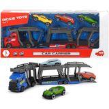 Dickie Toys Autotranssporter + 3 Auto's Assorti