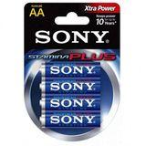 Alkalinebatterij Sony 4+2 AA Stamina Plus AM3-B4X2D 1,5 V AA (4 pcs) Blauw