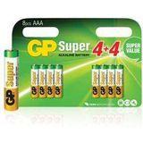Gp GP-ALK-AAA-03 Batterij Alkaline Aaa/lr03 1.5 V Super 8-blister