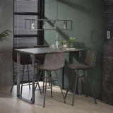 Dimehouse | Bartafel Jorn lengte 70 cm x breedte 120 cm x hoogte 92 cm antraciet, grijs eettafels mdf, metaal meubels tafels | NADUVI outlet