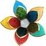 Fair & Fine   Waxinelichthouder Lotusbloem glas multicolour 18x18x6 cm waxinelichthouders   NADUVI