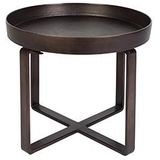 Dutchbone | Bijzettafel Ferro bronskleurig bijzettafels metaal, brons meubels tafels | NADUVI outlet