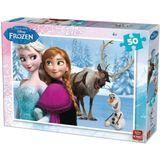 King Puzzel Disney Frozen 50 Stukjes Assorti