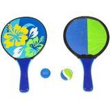 Summertime Catch and Hit met Bloemenprint 4-delig Blauw/Groen