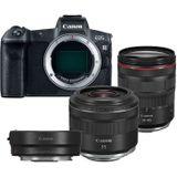 Canon EOS R + EF - RF Mount Adapter + RF 24-105mm F/4L IS USM + RF 35mm F/1.8 IS Macro STM