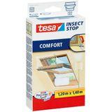 Tesa insect Stop Comfort Klittenband hor voor dakramen. 120x140cm wit