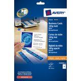 Visitekaartjes Avery 85x54mm 185gr wit 25 vel 10 kaarten per vel