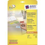 Etiket Avery ILK 45,7x21,2mm 20 vel 48 etiketten per vel geel
