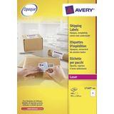 Verzendetiket Avery QuickPeel 139x99,1mm wit 100 vel 4 etiketten per vel
