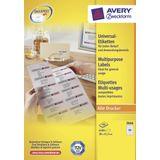 Etiket Avery ILK 38x21,2mm 100 vel 65 etiketten per vel wit