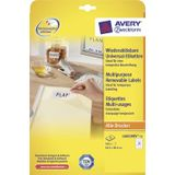 Avery Zweckform L6023REV-25 afneembare etiketten ft 63,5 x 38,1 mm (b x h), 525 etiketten, wit