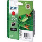 Epson inktcartridge T0547, 400 pagina's, OEM C13T05474010, rood