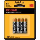 Kodak XTRALIFE alkaline AAA/LR03 blister 4