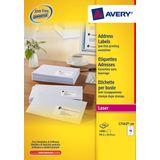 Adresetiket Avery QuickPeel 99,1x33,9 wit 100 vel 16 etiketten per vel